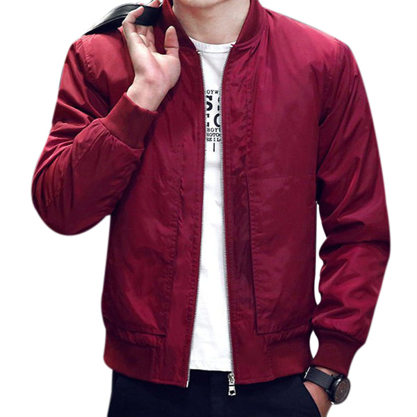 Windproof Casual Bomber Jacket - THE FASHION COCKTAIL