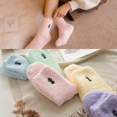Plush Cotton Cat Socks - THE FASHION COCKTAIL