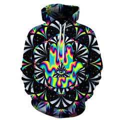 Trippy hamsa Hoodie - THE FASHION COCKTAIL