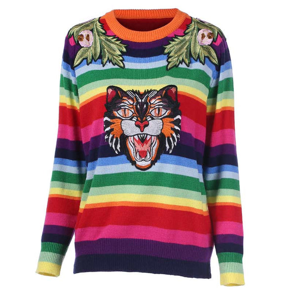 Rainbow Sweater - THE FASHION COCKTAIL