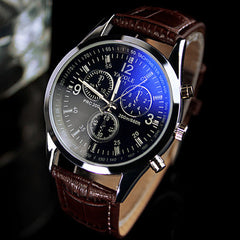Premium Genuine Leather Men's Watch - THE FASHION COCKTAIL