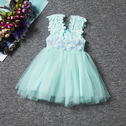 Lace Flower Baby Dress - THE FASHION COCKTAIL