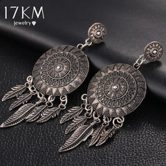 Leaf Feather Dangle Earrings - THE FASHION COCKTAIL