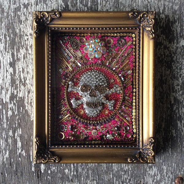Catriona Faulkner Skull Embroidered Artwork