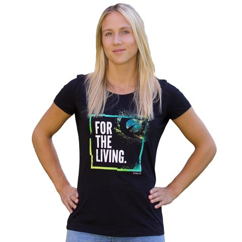 Womens Tee - For The Living (Black)