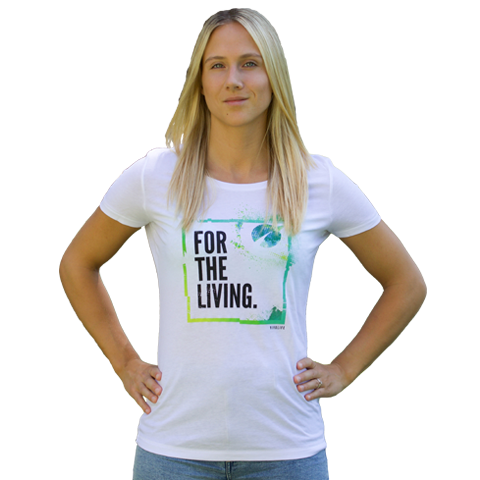 Womens Tee - For The Living (White)