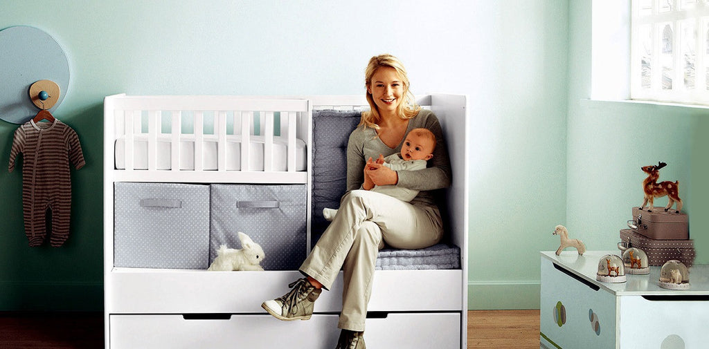 Smart storage solutions for living with baby in a small apartment