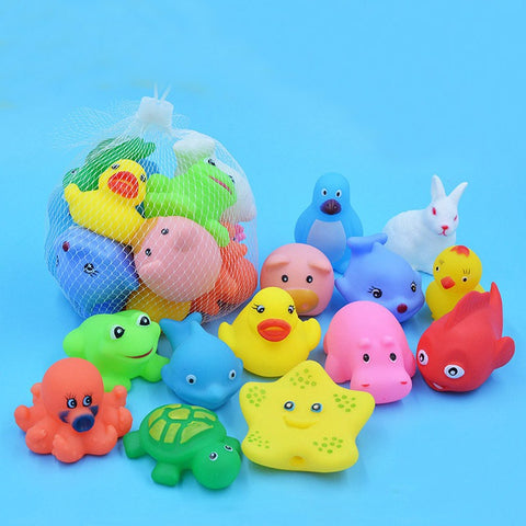 Rubber Animals Bath Set