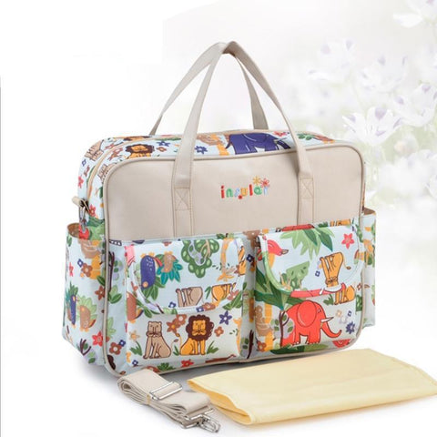 Fashionable large capacity multi-colored baby diaper bag