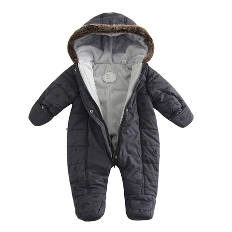 2017 Baby Winter Jumpsuit with Faux Fur Hood Trim and Ultra Soft Lining
