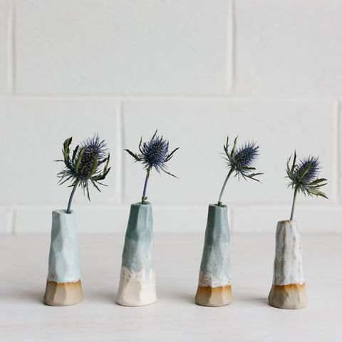 Woodfolk Blue Volcano Vases