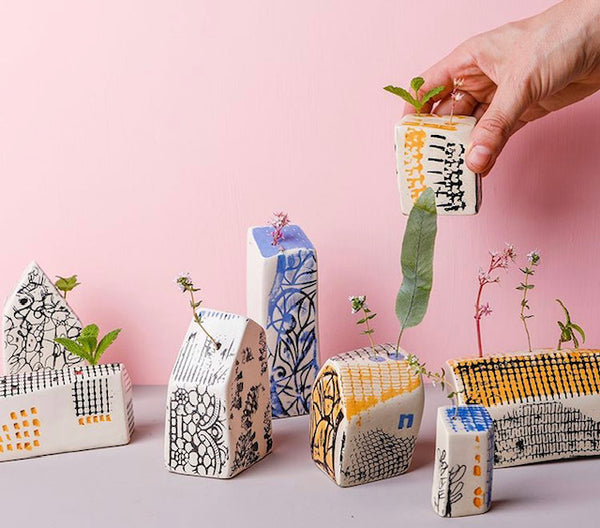 Leaf and Co Large Ceramic Happy Houses