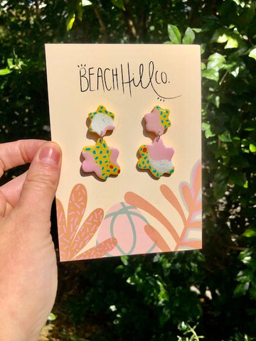 Beach Hill Co Spots and Stripes Earrings