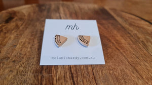 Melanie Hardy Ceramics Hand painted Stud Earrings