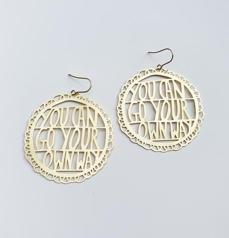 Denz and Co 'You Can Go Your Own Way' Dangle Earrings