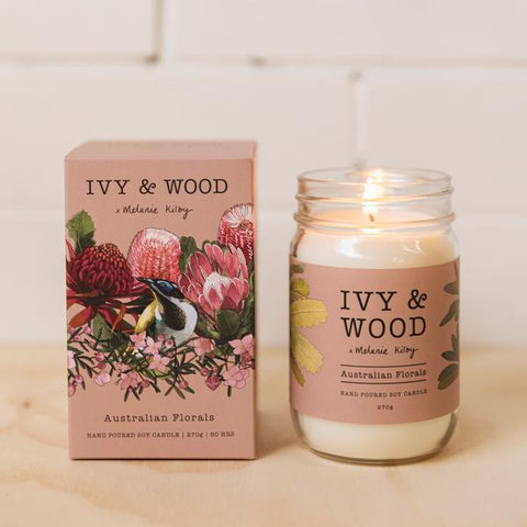 Ivy and Wood Australiana Collection Australian Florals Large Candle