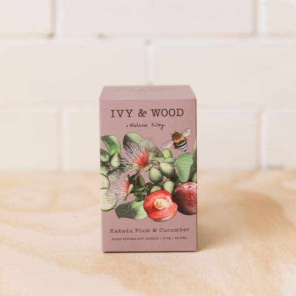 Ivy and Wood Australiana Collection Kakadu Plum and Cucumber Large Candle