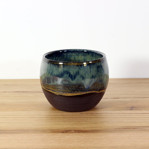 Woodside Ceramics Black Clay Cup in Green