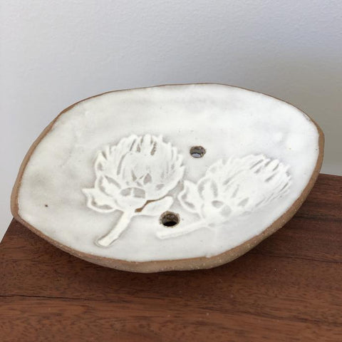 Woodside Ceramics White Soap Dish