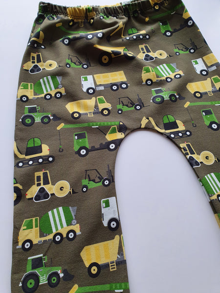olive green digger harems children's handmade leggings