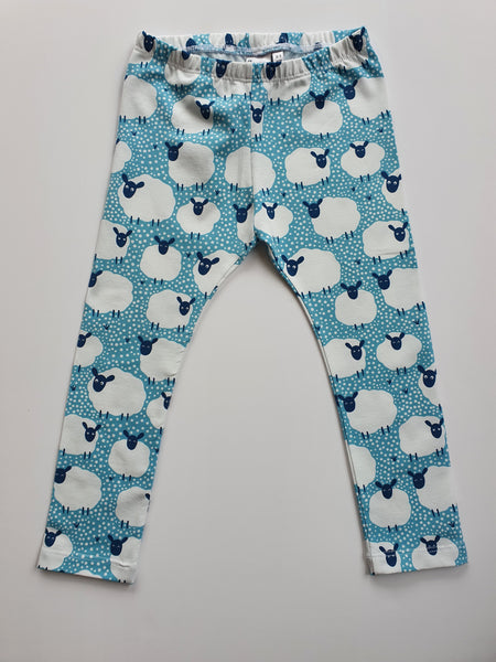 Blue Spotty Sheep Leggings