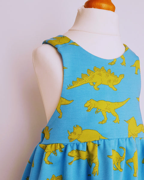 Dinosaur Pinafore Dress