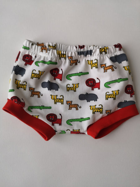 Organic Jungle Animals Bummie Shorts