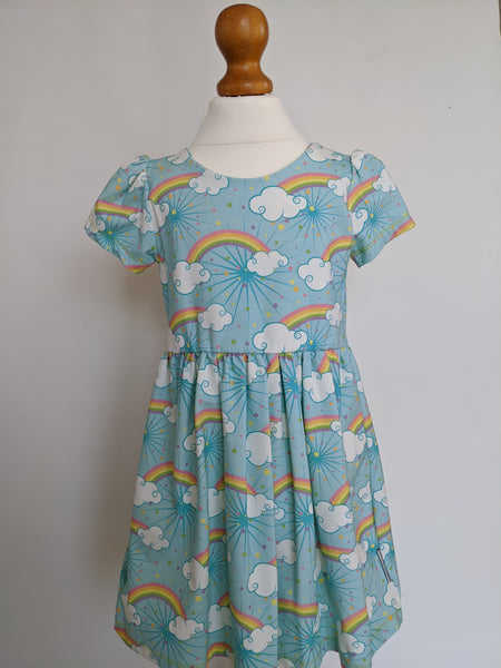 Organic Rainbow Skies Party Dress