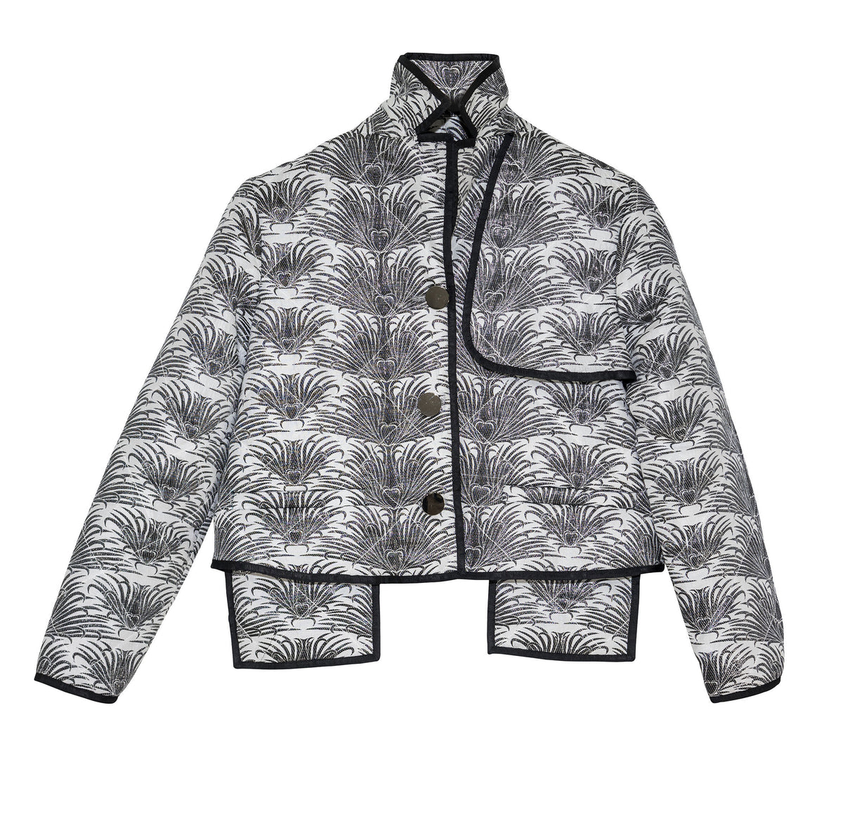 Grosgrain Trimmed Quilted Jacket