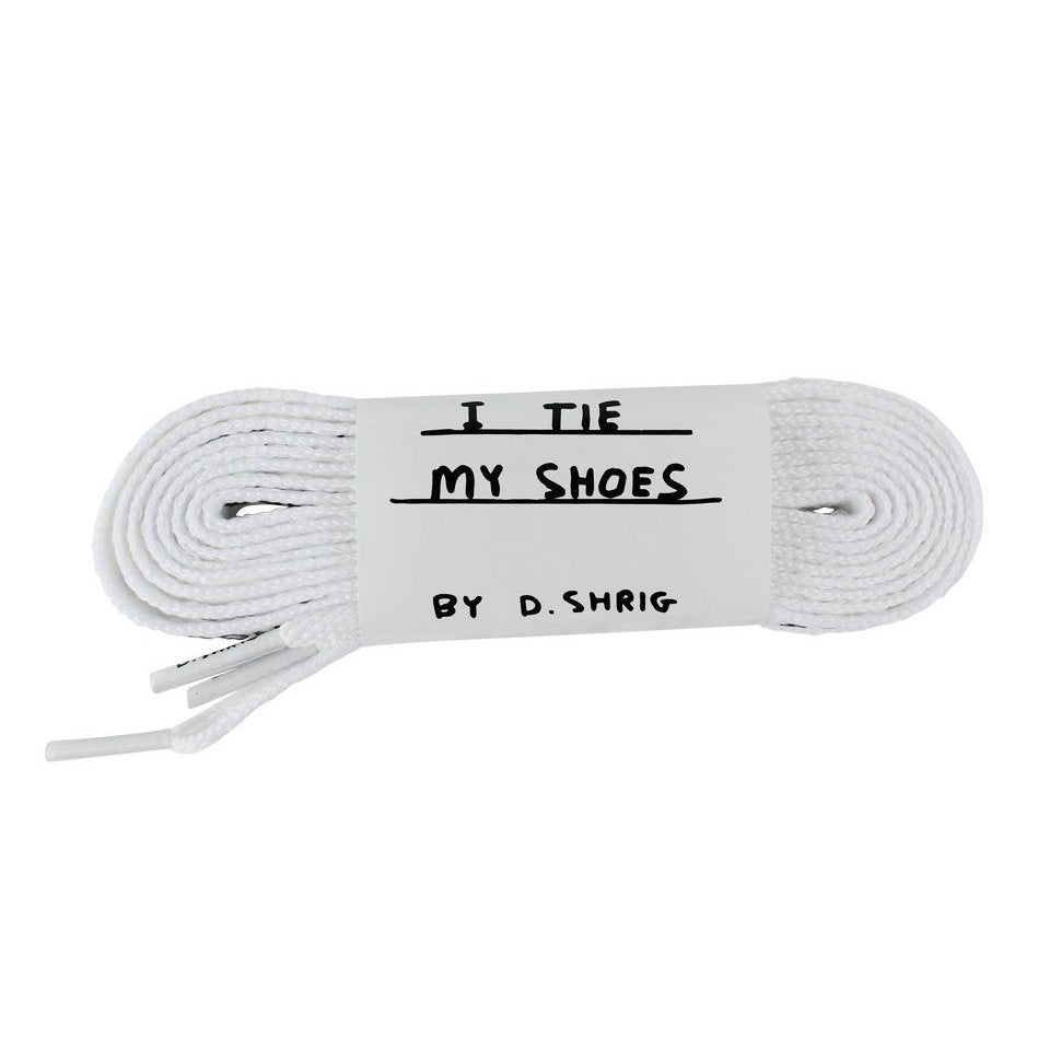 David Shrigley Shoelaces White