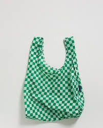 Baggu Reusable Bag Green Checkerboard