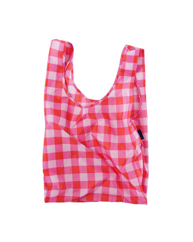 Baggu Reusable Bag - Big Check Magenta