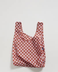 Baggu Reusable Bag Rose Checkerboard