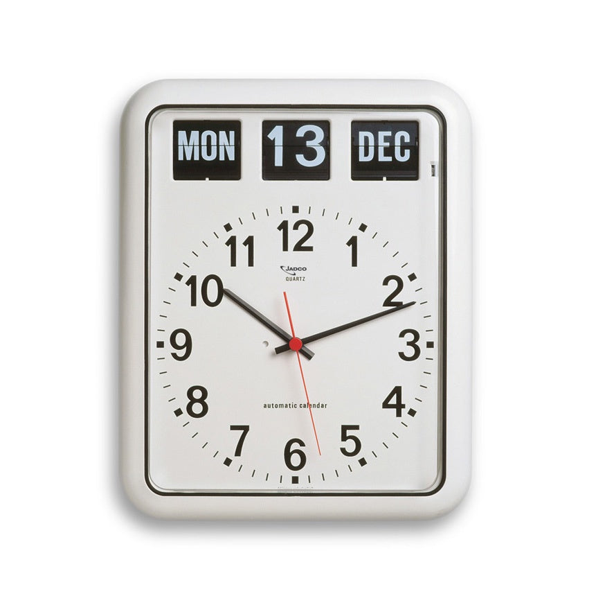 Analogue calendar wall clock