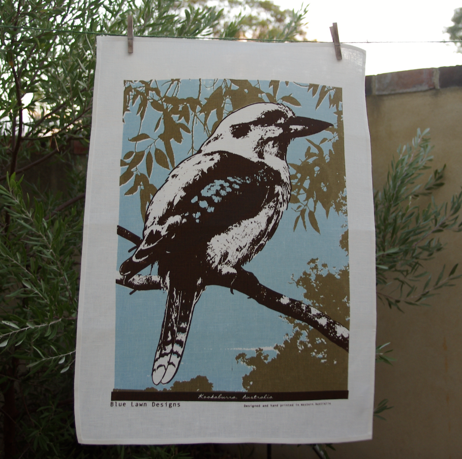Tea Towel - Blue Lawn - Kookaburra