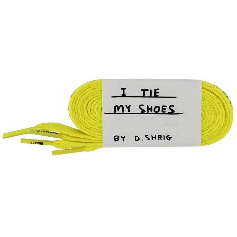 David Shrigley Shoelaces Yellow