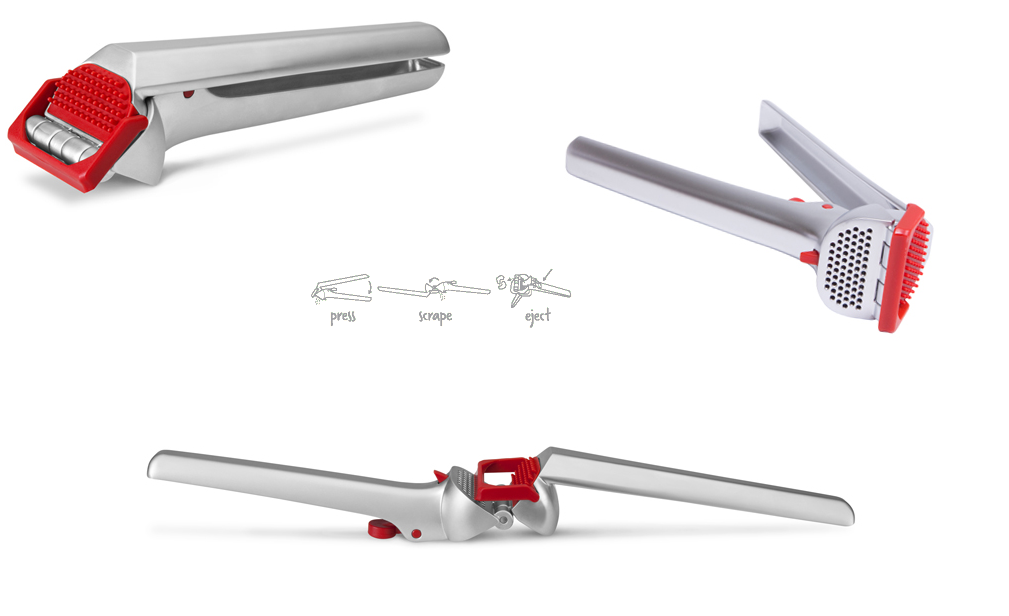 Garject Firetruck Red - garlic press