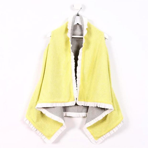 Yellow and Grey with White Rib
