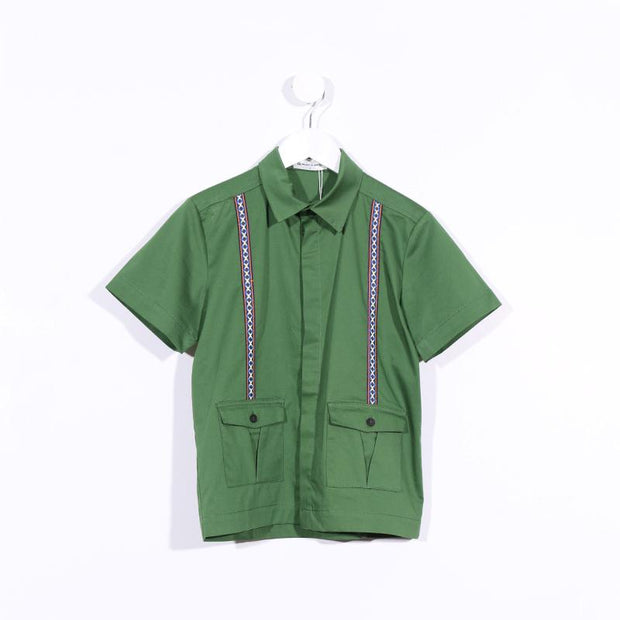 Short-sleeved Suspenders Shirt