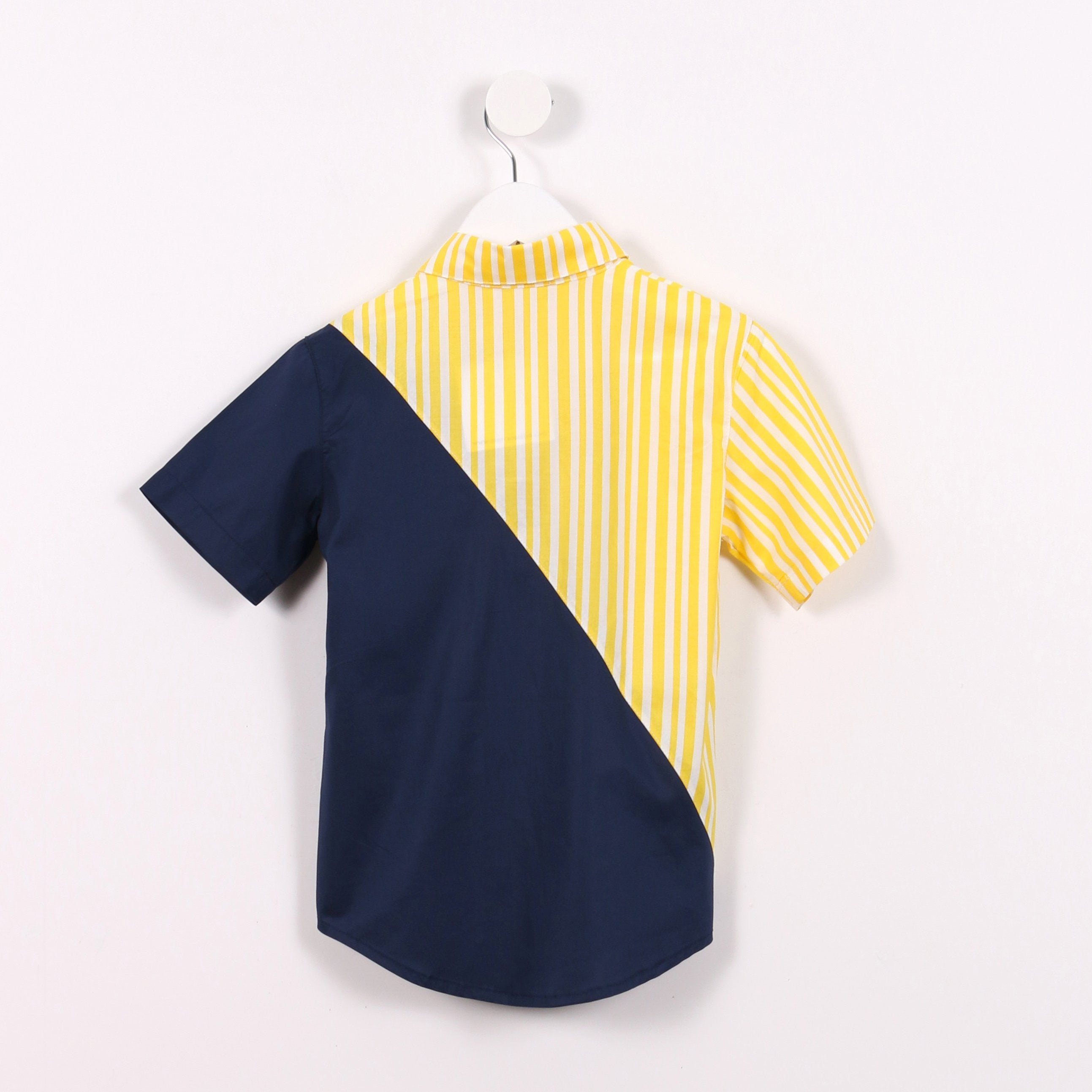 Yellow Stripes and Navy