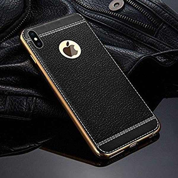 online store ff713 66fcd iPhone X Designer Cover, Excelsior Premium Silicon and Leather Back Cover  Case