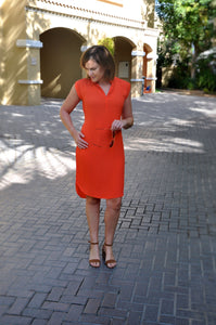 Belted Shift - Orange