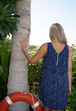 Load image into Gallery viewer, Sleeveless Shift Dress - Navy Pebble
