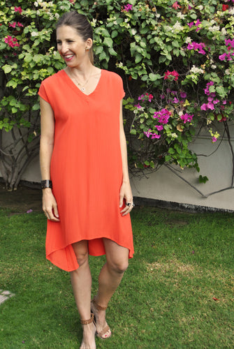 Trapeze Dress - Orange