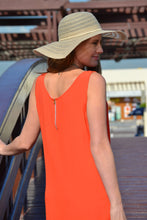 Load image into Gallery viewer, Sleeveless Shift Dress - Orange