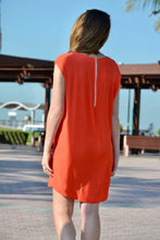 Load image into Gallery viewer, Classic Shift Dress - Orange
