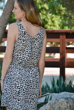 Load image into Gallery viewer, Sleeveless Shift Dress (Longer length) - Animal