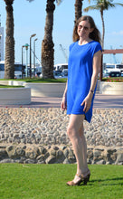 Load image into Gallery viewer, Classic Shift Dress (Longer Length) - Electric Blue