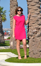 Classic Shift Dress (Longer length) - Hot Pink