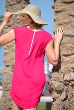 Load image into Gallery viewer, Classic Shift Dress (Longer length) - Hot Pink